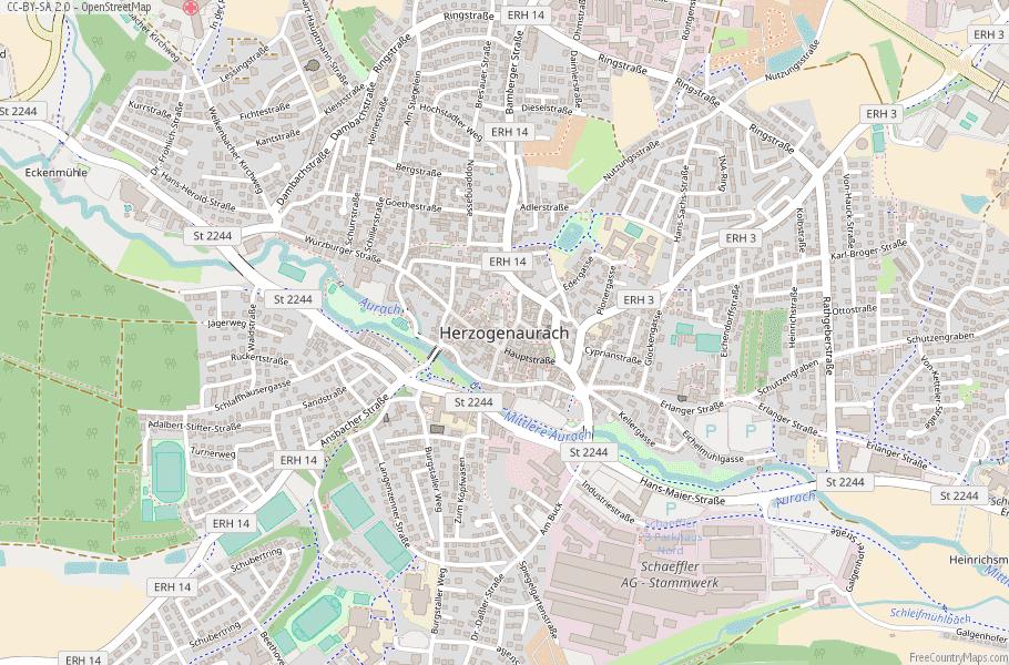 Herzogenaurach Germany Map
