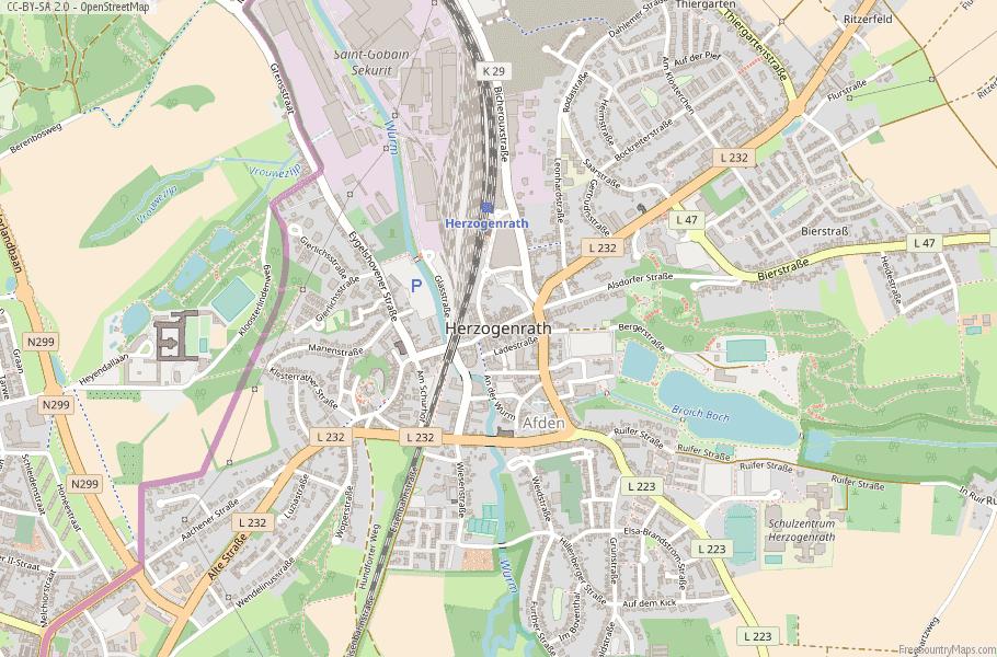 Herzogenrath Germany Map