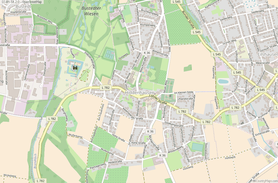 Hiddenhausen Germany Map