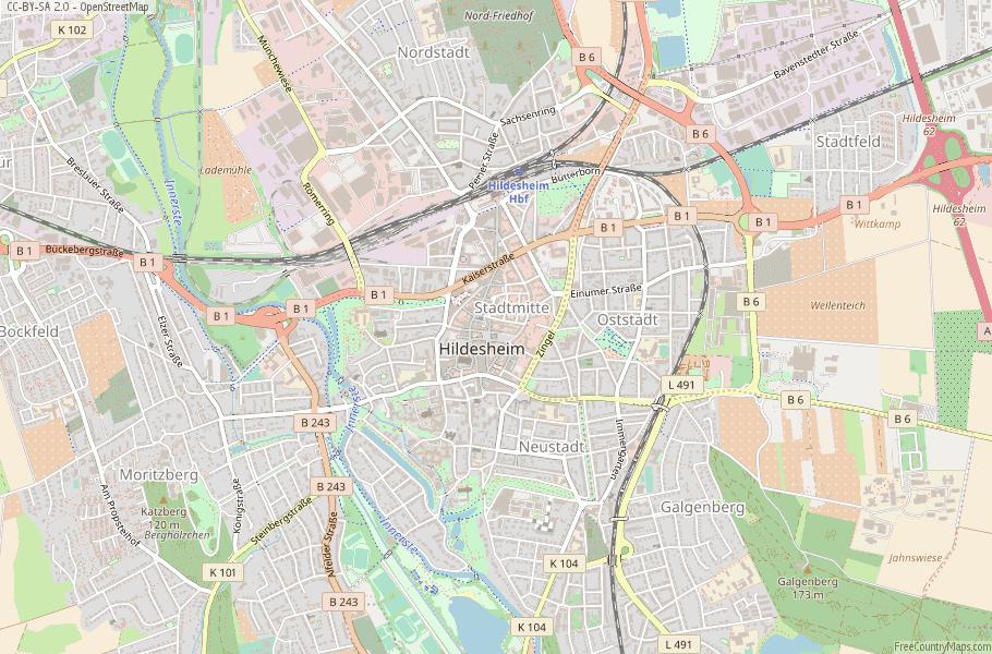Hildesheim Germany Map