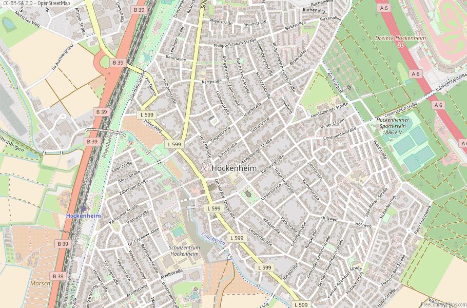 Hockenheim Germany Map
