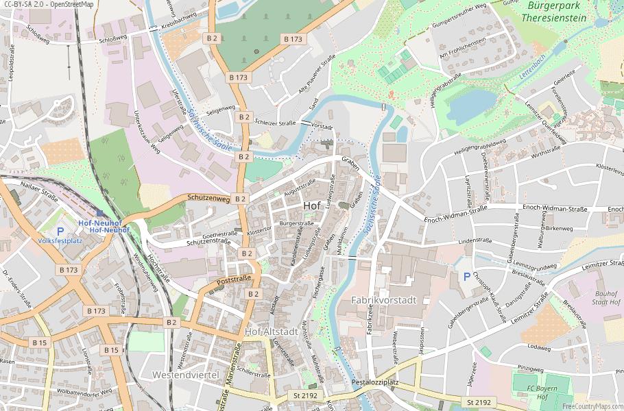 Hof Germany Map