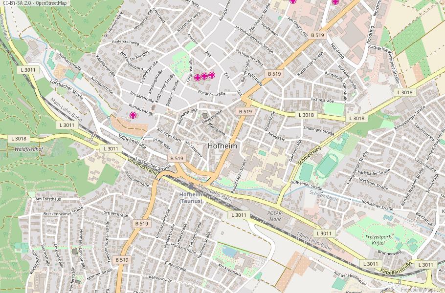 Hofheim Germany Map