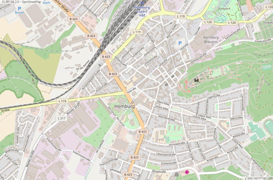Homburg Germany Map