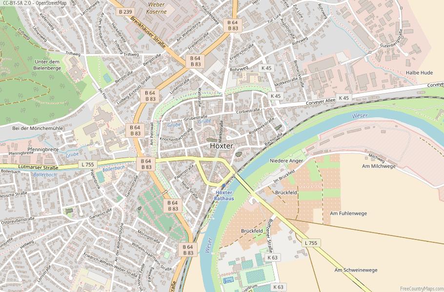 Höxter Germany Map