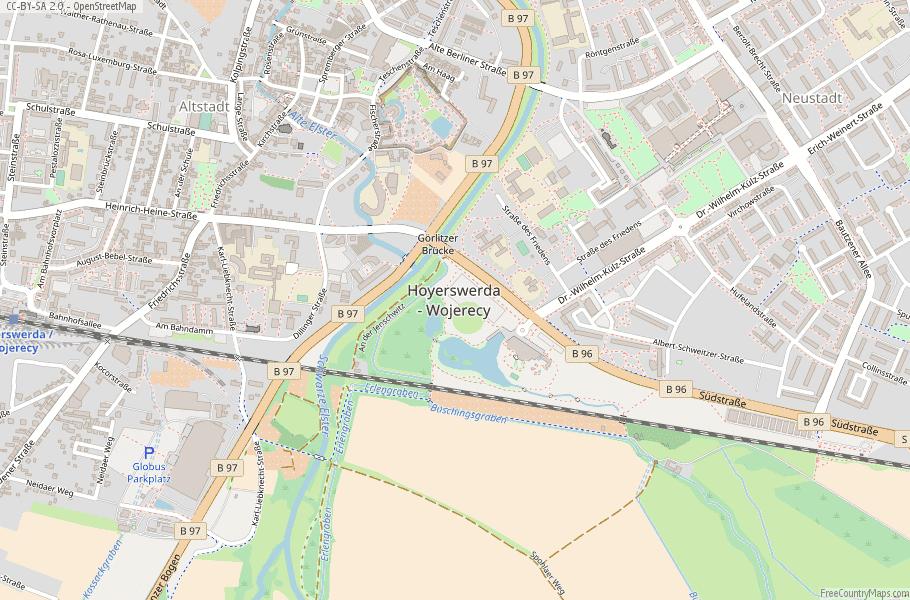 Hoyerswerda Germany Map