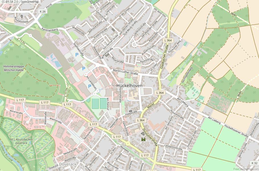 Hückelhoven Germany Map