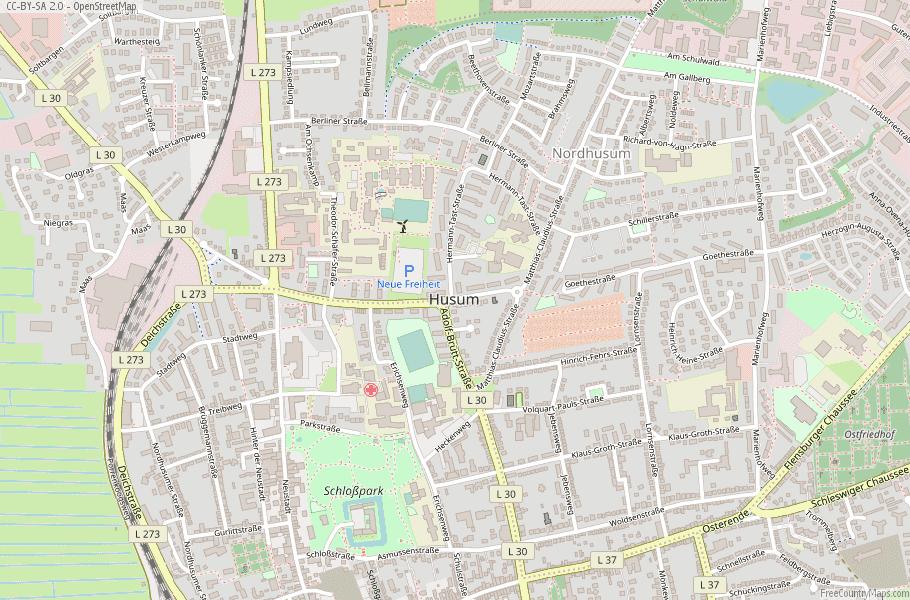 Husum Germany Map