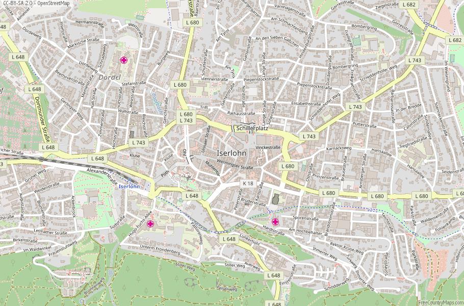 Iserlohn Germany Map