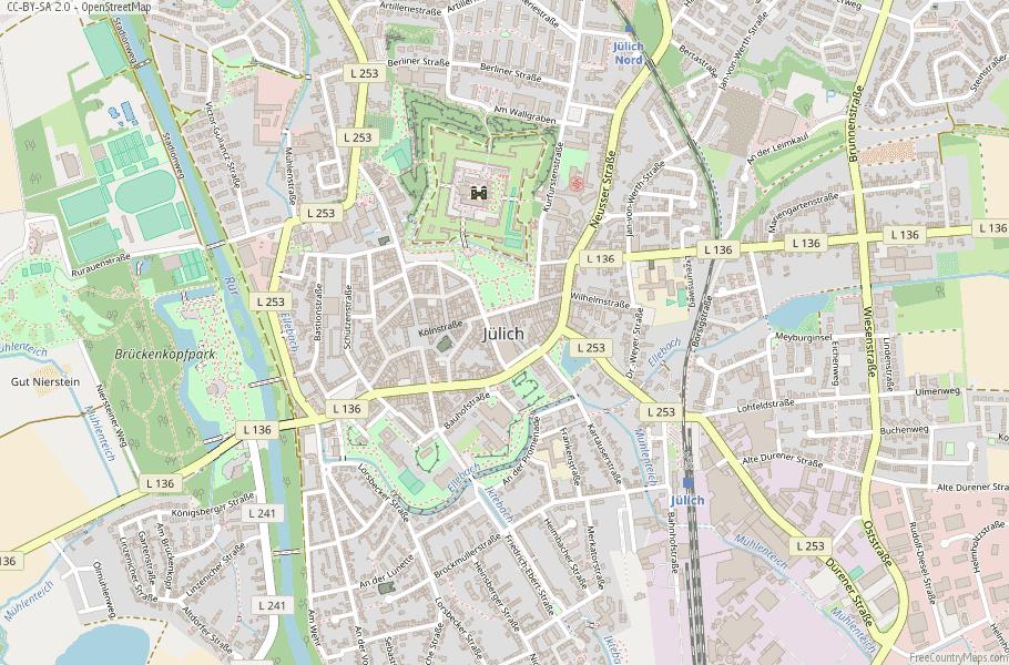 Jülich Germany Map