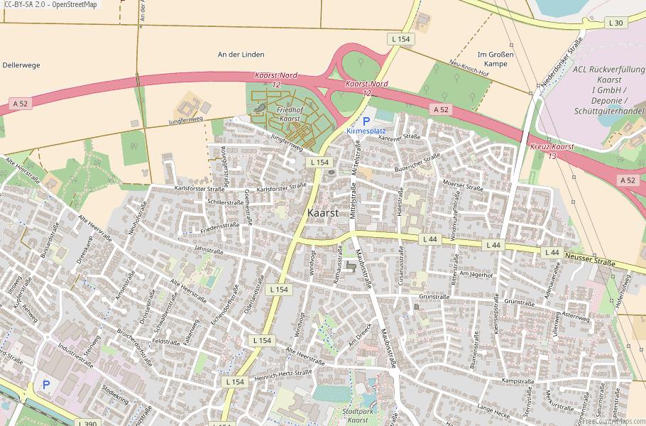 Kaarst Germany Map