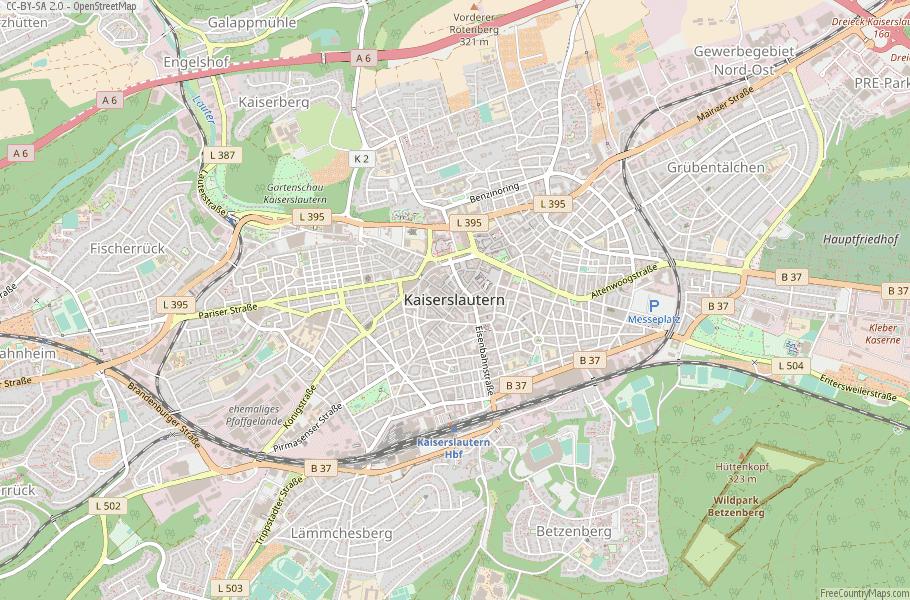 Kaiserslautern Germany Map