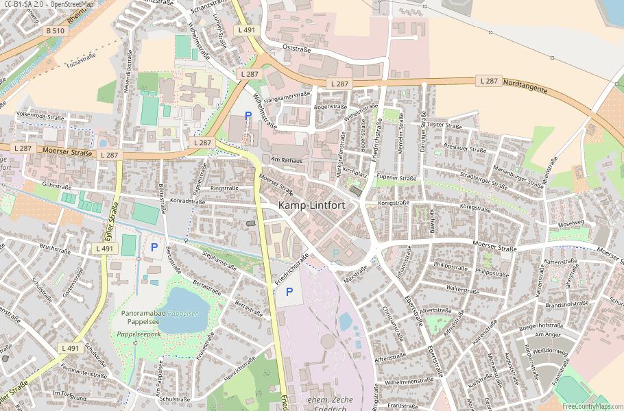 Kamp-Lintfort Germany Map