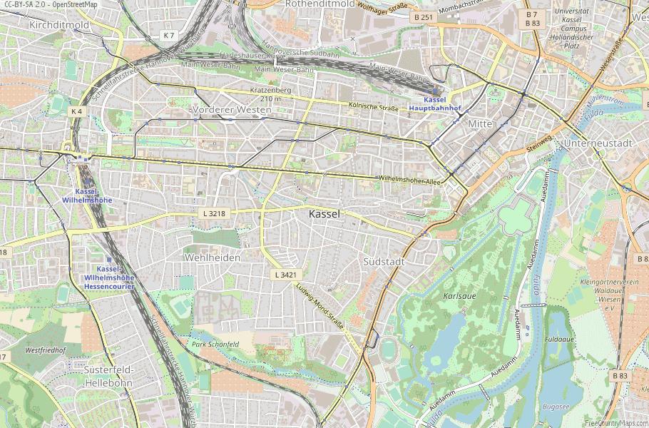 Kassel Germany Map