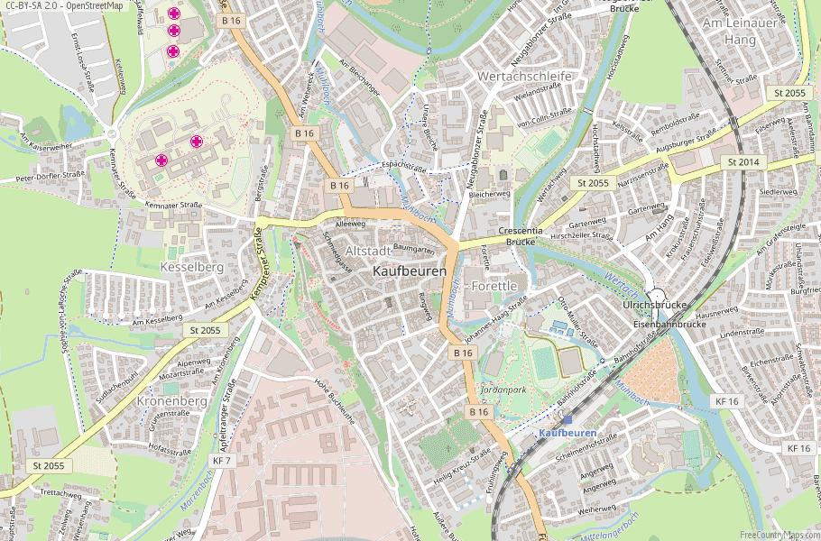 Kaufbeuren Germany Map