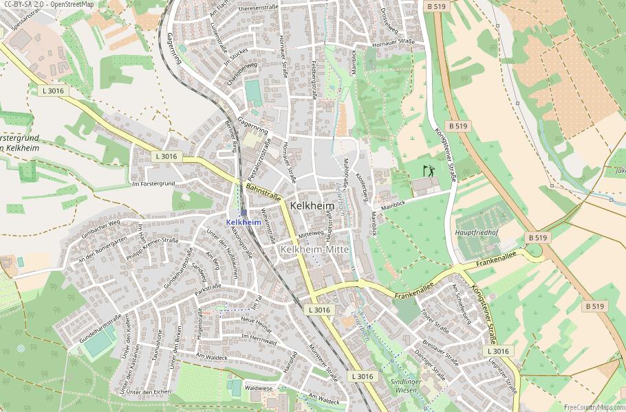 Kelkheim Germany Map