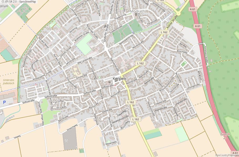 Kerpen Germany Map