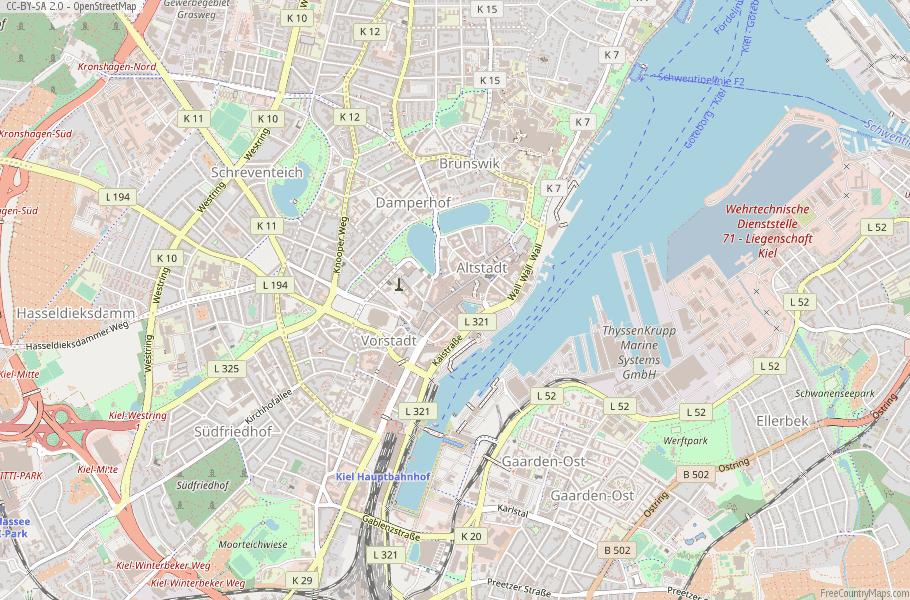 Kiel Germany Map