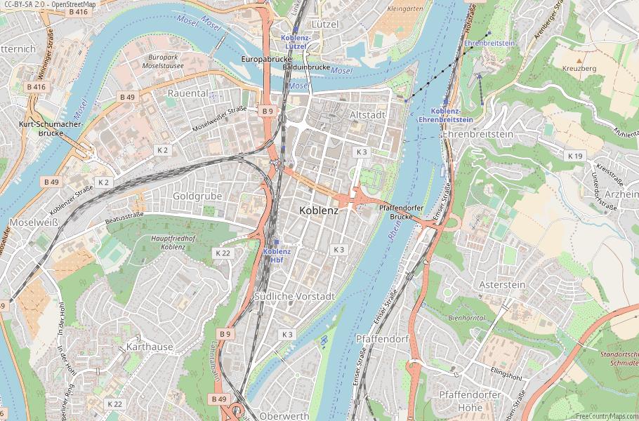 Koblenz Map Germany Laude & Longitude: Free Maps on bonn germany map, weil der stadt germany map, mosel germany map, rothenburg ob der tauber, taunus germany map, colditz germany map, lutz germany map, kassel germany map, heligoland germany map, heidelberg germany map, cologne germany map, hellenthal germany map, rhineland germany map, lampertheim germany map, straubenhardt germany map, esens germany map, babelsberg germany map, runkel germany map, austin germany map, wannsee germany map,