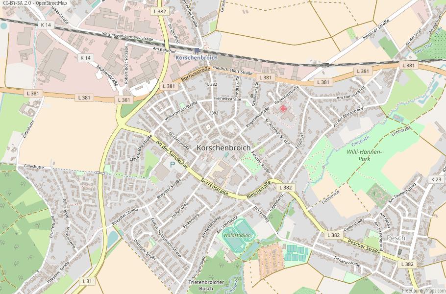 Korschenbroich Germany Map