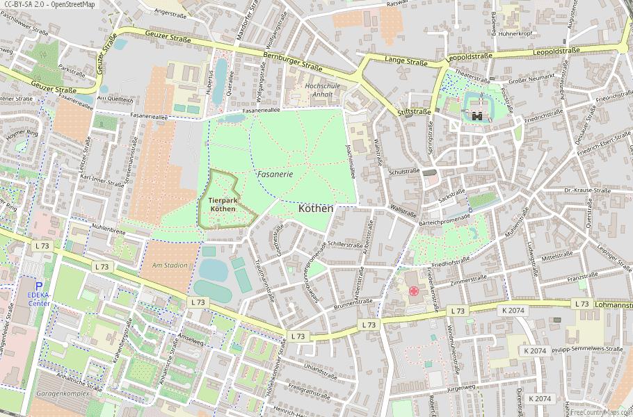 Köthen (Anhalt) Germany Map