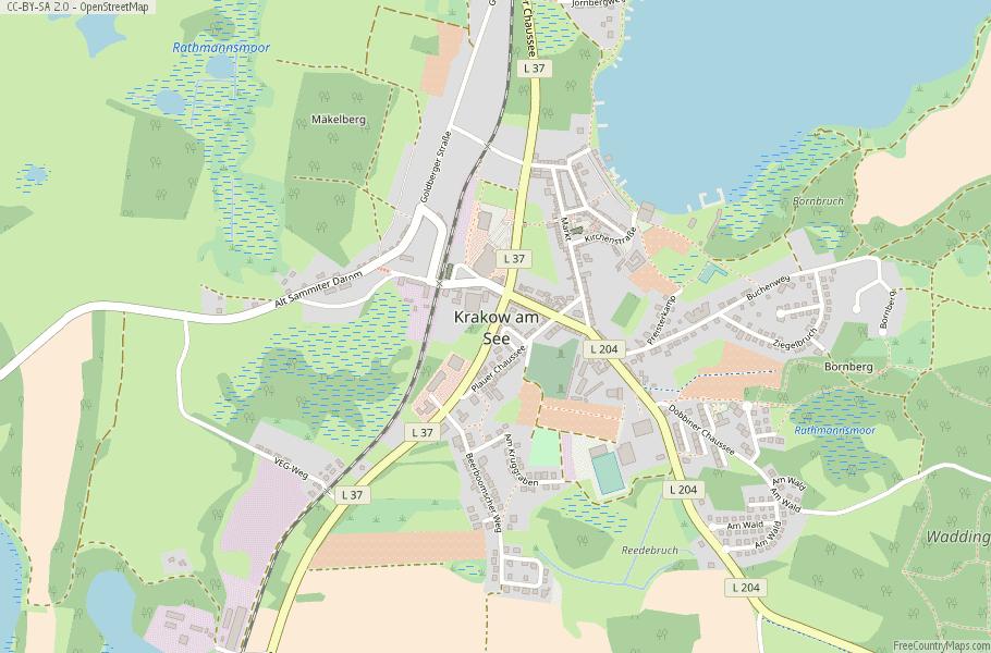 Map Of Germany Krakow.Krakow Am See Map Germany Latitude Longitude Free Maps