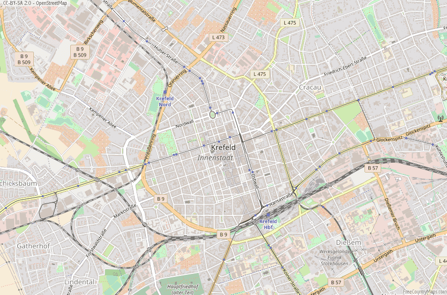 Krefeld Germany Map