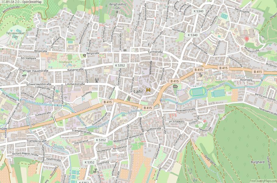 Map Of Zirndorf Germany.Lahr Map Germany Latitude Longitude Free Maps