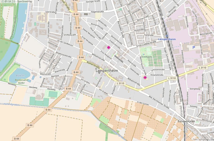 Lampertheim Germany Map