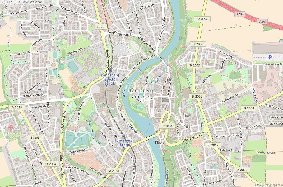 Landsberg am Lech Germany Map