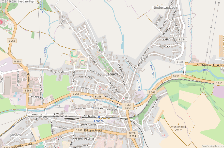 Lebach Germany Map