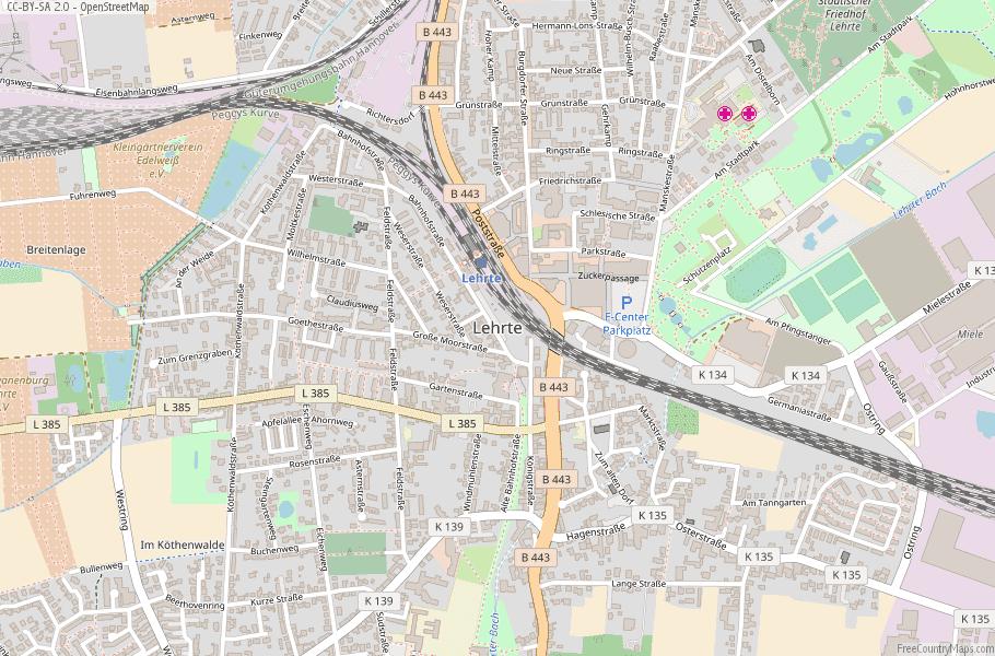 Lehrte Germany Map