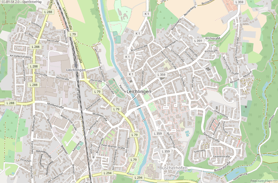 Leichlingen Germany Map