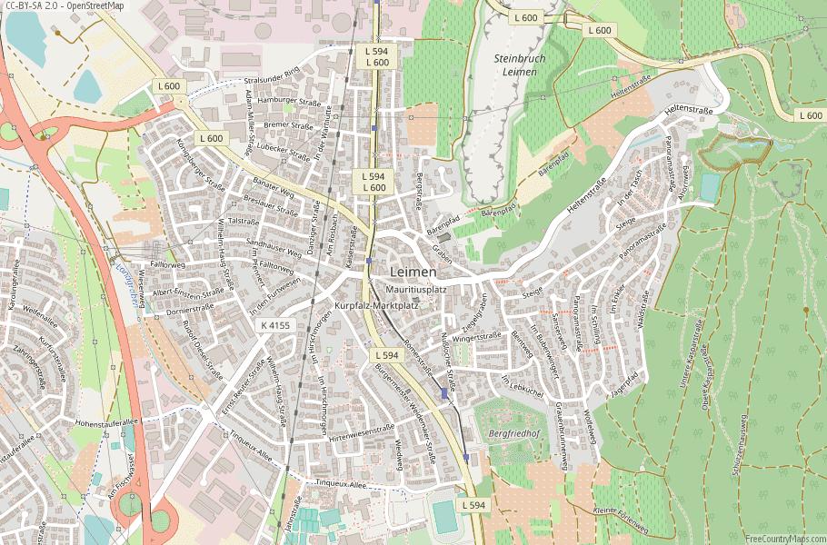 Leimen Germany Map