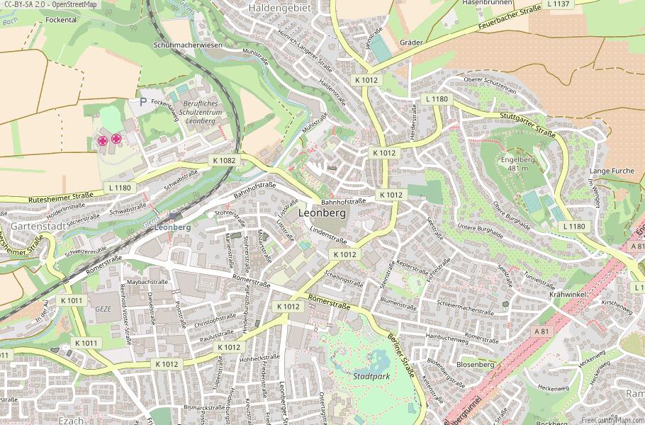 Leonberg Germany Map