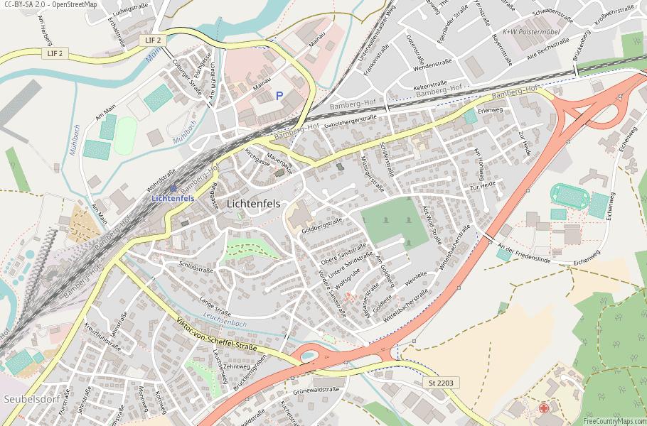 Lichtenfels Germany Map