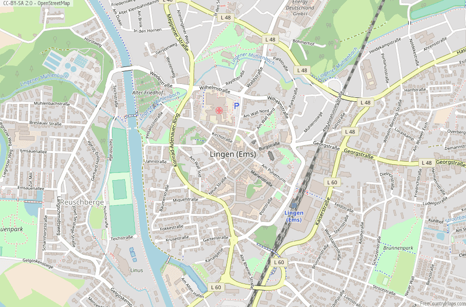 Lingen Germany Map