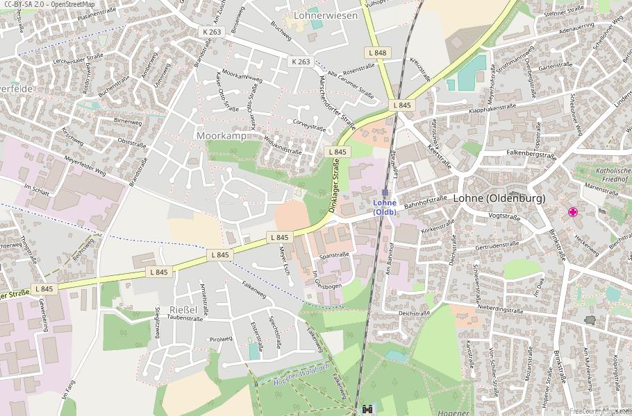 Lohne (Oldenburg) Germany Map