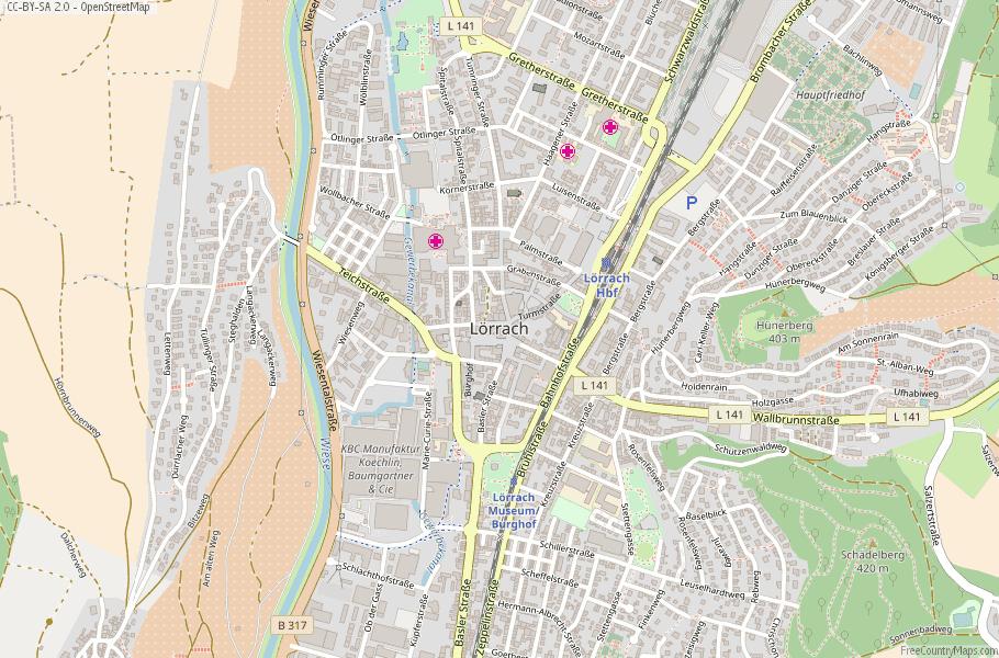 Lörrach Germany Map