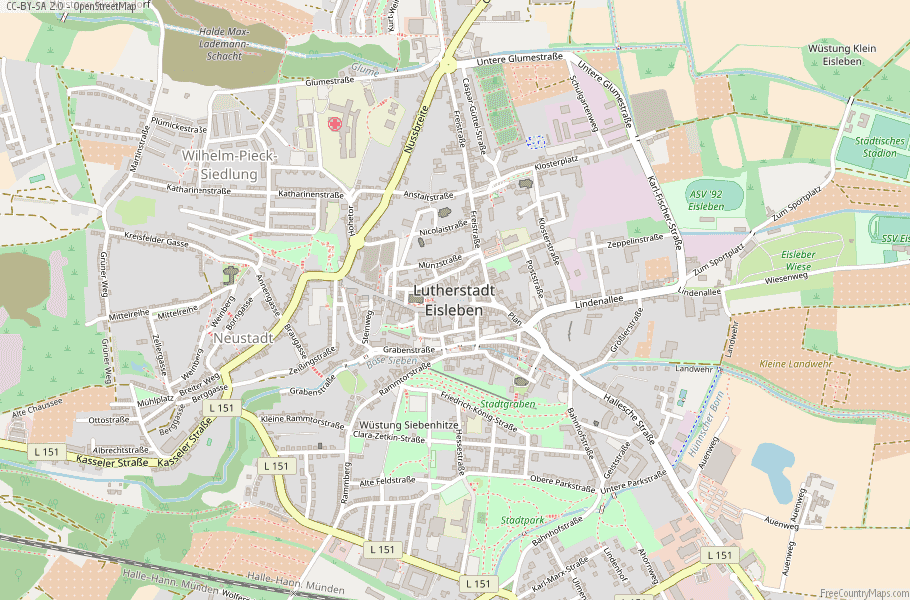 Lutherstadt Eisleben Germany Map