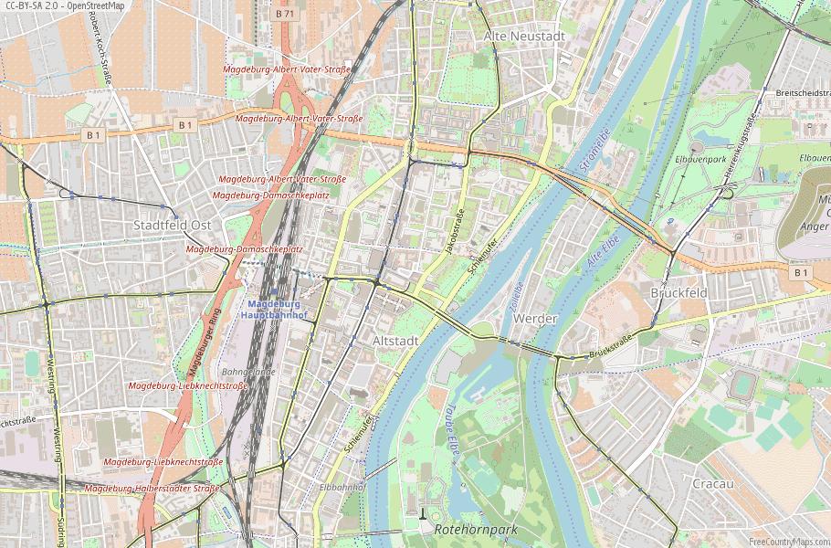 Magdeburg Map Germany Latitude Longitude Free Maps