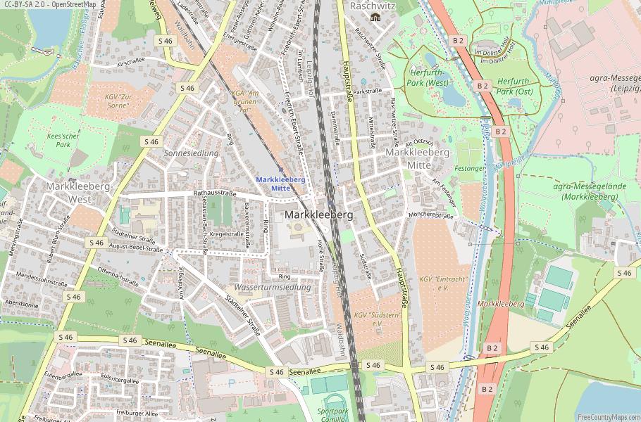 Markkleeberg Germany Map