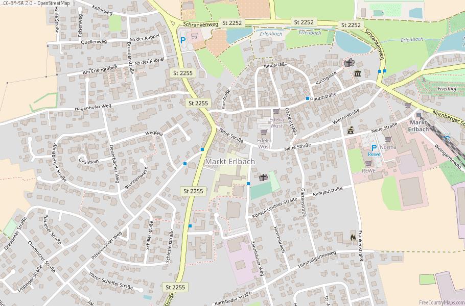 Map Of Zirndorf Germany.Markt Erlbach Map Germany Latitude Longitude Free Maps