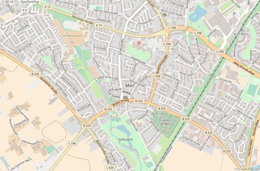 Marl Germany Map