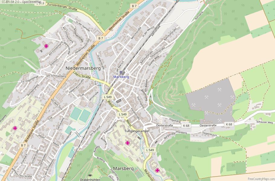 Marsberg Germany Map