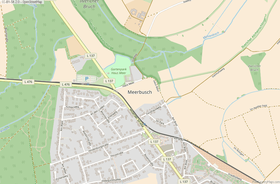 Meerbusch Germany Map