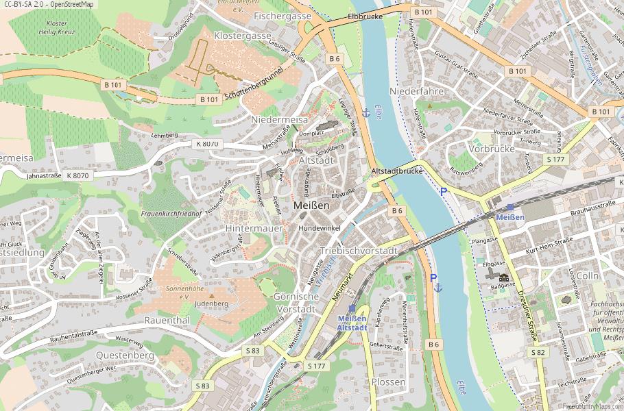 Meißen Germany Map