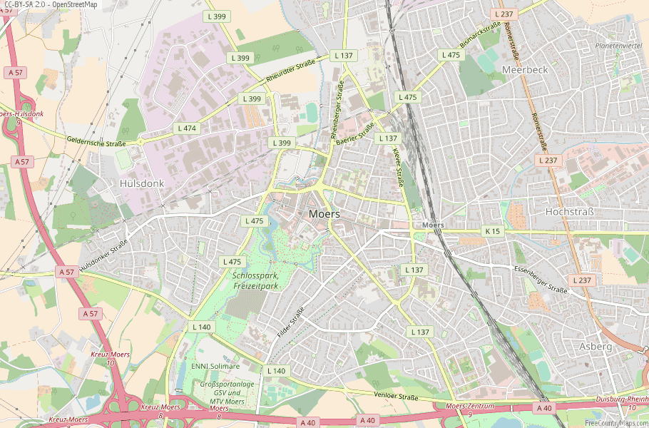 Moers Germany Map