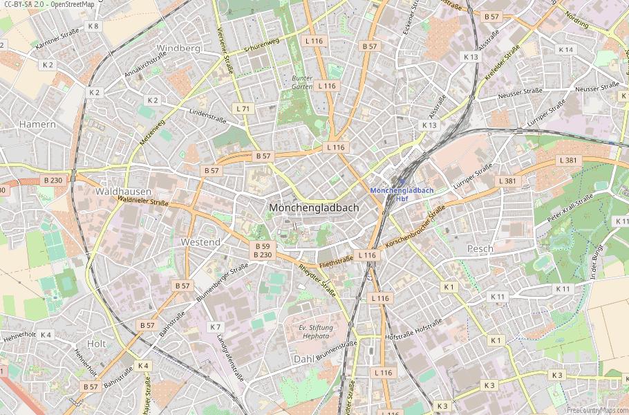 Mönchengladbach Germany Map