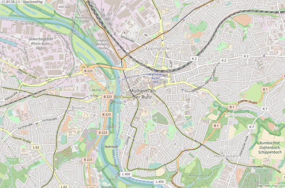 Mülheim Germany Map